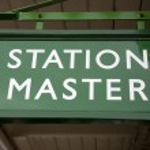 Station Master Sign — Stock Photo