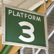 Platform 3 Sign — Stock Photo