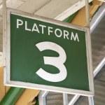 Platform 3 Sign — Stock Photo