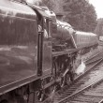 Stream Train in Black and White — Stock Photo