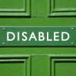 Green Disabled Sign — Stock Photo