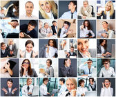 Collection of different portraits — Stock Photo