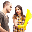 Couple preparing for renovation of their home — Stock Photo