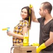 Couple preparing for renovation of their home — Stock Photo #10947358