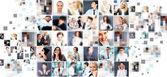 Coleção de retratos diferentes — Foto Stock