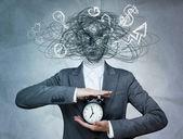 頭部と毎日 routin なしビジネスの女性の概念図 — ストック写真