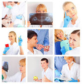 Medical staff portrait set — Stock Photo