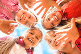 Happy children having fun together — Foto Stock