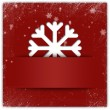 Christmas snowflake applique graphic background with glitter and — Stock Photo #12392414