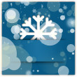 Christmas snowflake applique graphic background blue — Stock Photo #12392447