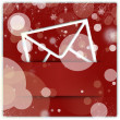 Red christmas style message icon and background - Stockfoto