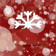 Christmas snowflake applique graphic background with glitter and — Stock Photo #12392545