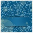 Swirl ornament background with copyspace applique — 图库照片