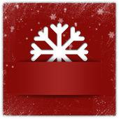 Jul snöflinga applique grafisk bakgrund med glitter och — Stockfoto