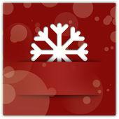 Jul snöflinga applique grafisk bakgrund röd — Stockfoto
