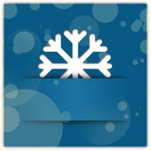 Christmas snowflake applique graphic background blue — Stock Photo