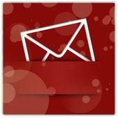 Copyspace で赤いメッセージ アップリケ グラフィック デザインの背景 — ストック写真