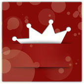 Crown applique on red background. Christmas party concept — Stock Photo
