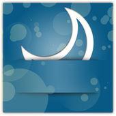 Vita månen applikationer på blå bakgrund — Stockfoto