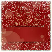 Swirl christmas ornament background with copyspace applique — Stock Photo
