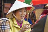 Vietnamese Woman at Market — Stock Photo