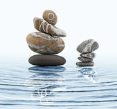 Zen stones in water — Stock Photo