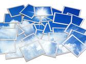 Molduras para fotos com o céu azul — Foto Stock
