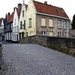 Bruges city street — Stock Photo