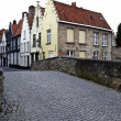 Bruges city street - Stock Photo