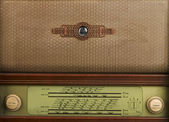 Decorative front panel of an old radio — Stock Photo