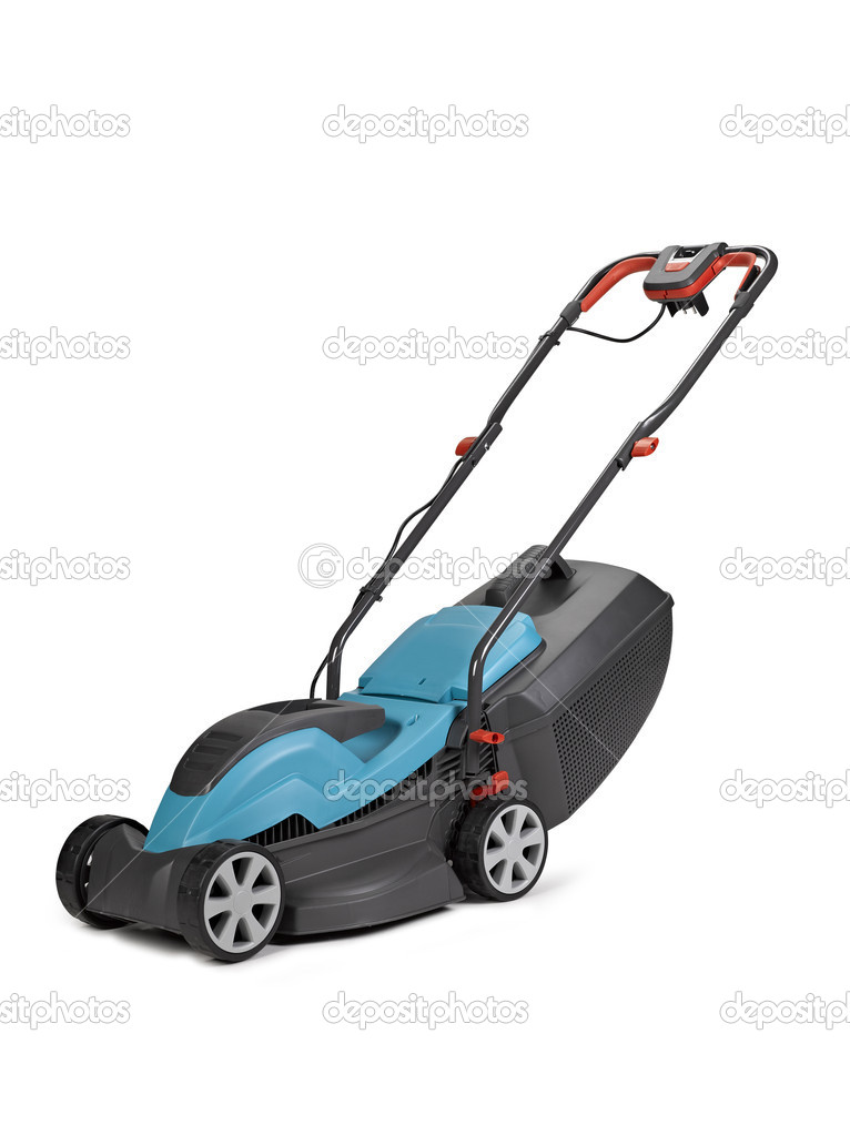 Lawn mower. Isolated on white background, clipping path — Stock Photo #11145645