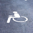 Disabled parking signs — Stock Photo