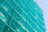 Lešení a síťovina — Stock fotografie