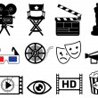 Movie industry icons — Stock Photo #12089667