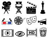 ícones da indústria do cinema — Foto Stock