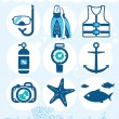 Royalty-Free Stock Vector Image: Underwater icons