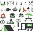 Stock Vector: Camping icons set