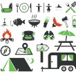 Camping icons set — Stock Vector #12089670