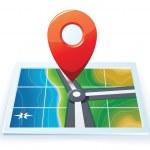Modern gps map icon — Stock Vector