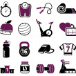 Royalty-Free Stock 矢量图片: Fitness set