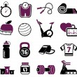 Royalty-Free Stock Imagen vectorial: Fitness set