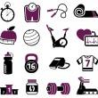 Fitness set — Stock Vector