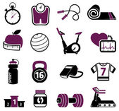 Fitness set — Vector de stock