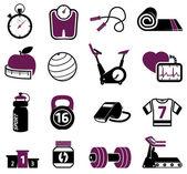 Fitness seti — Stok Vektör