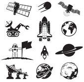 Collezione di spazio — Vettoriale Stock