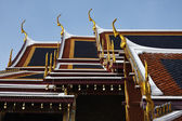 Thailand, Bangkok, Imperial Palace, Imperial City, golden roof temple decorations — Stock Photo