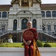 Thailand, Bangkok, Imperial Palace, Imperial city, a Buddhist monk at the Palace - Stock Photo