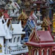 Thailand, Ayutthaya, these votive miniature temples are left in this sacred place by Thai in memory of their dead relatives — Stock Photo