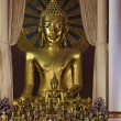 Thailand, Chiang Mai, Prathat Doi Suthep Buddhist temple, golden Buddha statue — Stock Photo #11096138