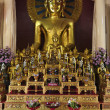 Thailand, Chiang Mai, Prathat Doi Suthep Buddhist temple, golden Buddha statue — Stock Photo #11096148
